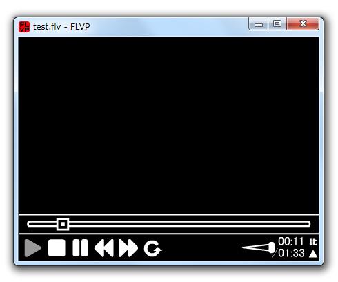 FLV再生で画面真っ黒