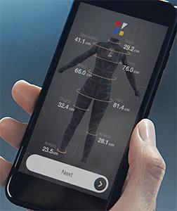 zozoスーツ採寸データアプリ